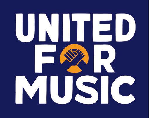 UNITED FOR MUSICのロゴ(<a href=https://www.unitedformusic.jp/ target=_blank>オフィシャルサイトはこちら</a>)