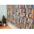 本なのか、壁なのか、はたまたキャンバスなのか。文庫本によるインスタレーション