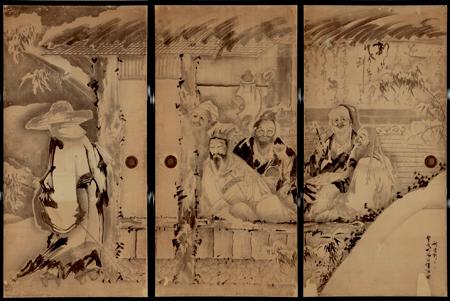 曾我蕭白『竹林七賢図』(部分) 旧永島家障壁画 三重県立美術館蔵 重要文化財