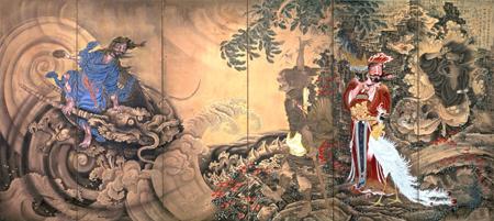 曾我蕭白『群仙図屏風』(右隻)国(文化庁)保管(展示期間:5月2日〜20日)