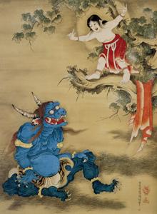 曾我蕭白『雪山童子図』継松寺蔵(展示期間:4月10日〜5月6日)