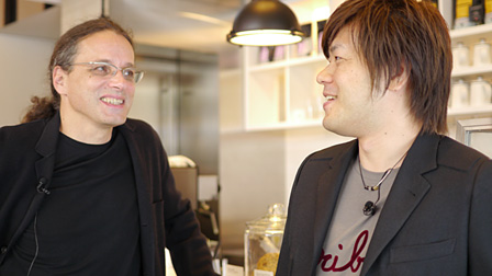 左:ゲルフリート・ストッカー、右:平野啓一郎