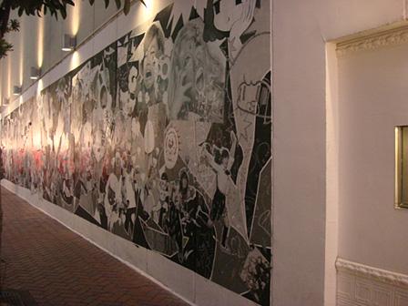 PARCO PART1の外壁にある作品『ギャルニカ』