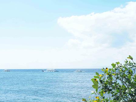 1年中夏であるフィリピンならではの、美しい海。