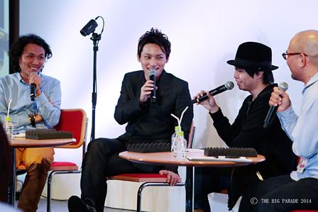 左から:斉藤迅、日高光啓、kz