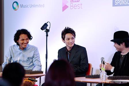 左から:斉藤迅、SKY-HI、livetune