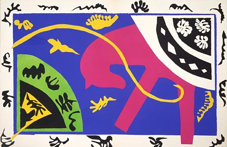 アンリ・マティス『馬、女曲芸師、道化師』『ジャズ』第5図 1947年刊