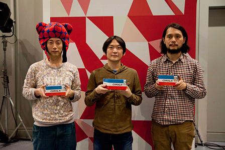 『MIXED REALITY LIVE!』の開発を手がけたPARTY中村(中央)、dot by dot inc.谷口(右)、Saqoosha(左) 撮影:三野新