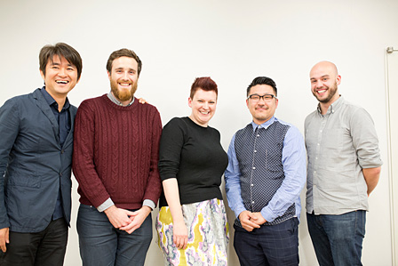 左から、水口哲也、ベン・バーカー、クレア・レディントン、齋藤精一、サム・ヒル ©British Council