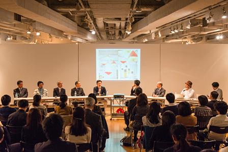 トークイベント&交流会『ヨコハマの家ができるまで』会場風景 photo by Toshiyuki Udagawa
