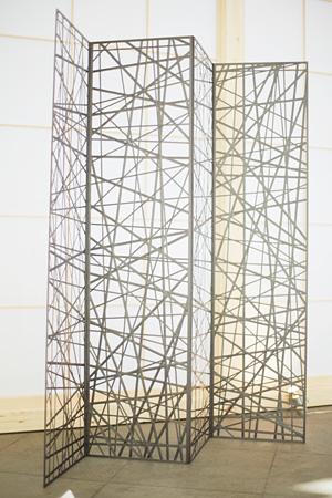 NOSIGNERとACMが共同制作した屏風 photo by rakuda