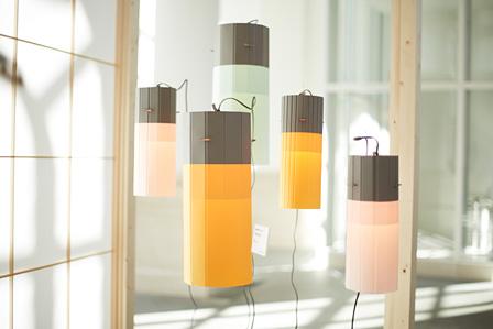 KANPISと荒井紙器製作所が共同制作した照明家具 photo by rakuda
