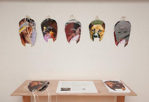 『ムーラン・ド・ラ・ギャレットでカラオケを』展示風景