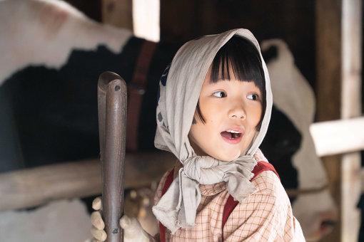 子供時代のなつを演じた粟野咲莉